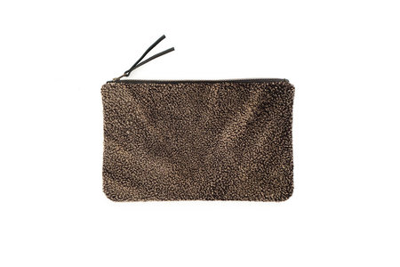 Primecut ARMY GREEN SHEEPSKIN CLUTCH