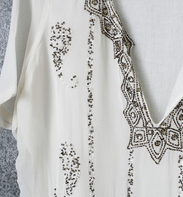 Antik Batik Beaded Top
