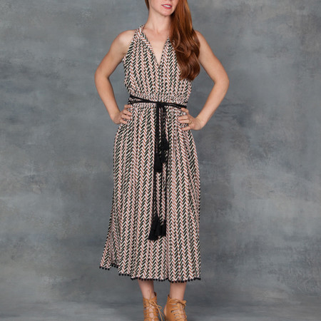 Apiece Apart La Rosa Dress in Chevron Print