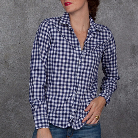 Frank and Eileen Barry Navy Check Shirt
