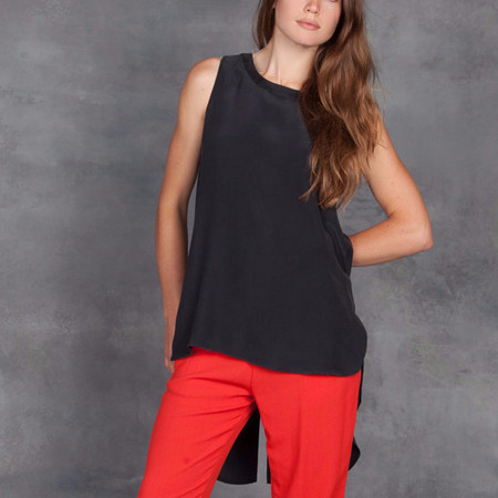 GOSILK Chase Your Tail Top in Washed Black