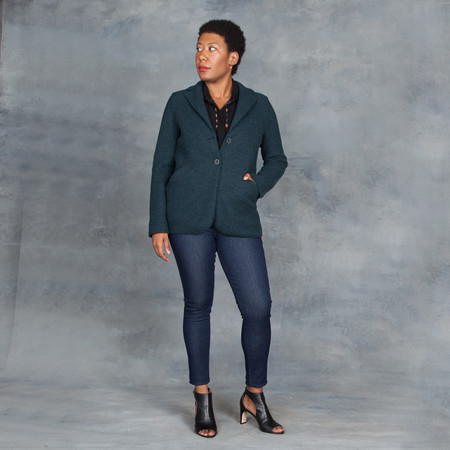 Harris Wharf London Military Jacket Teal