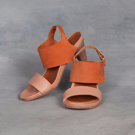 Humanoid Stamp Shoes Pumpkin Heel