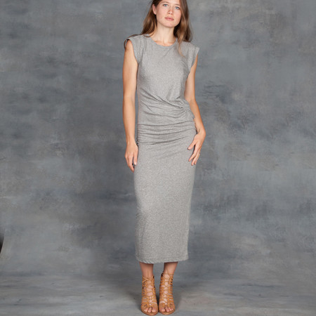 IRO Adonis Jesey Drape Dress Light Grey