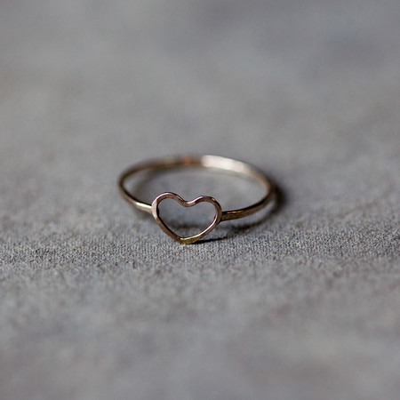 Melissa Joy Manning Heart Ring in Sterling Silver