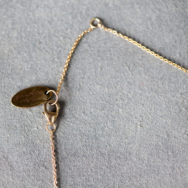 Stella Fluorescent Herringone Moon Necklace
