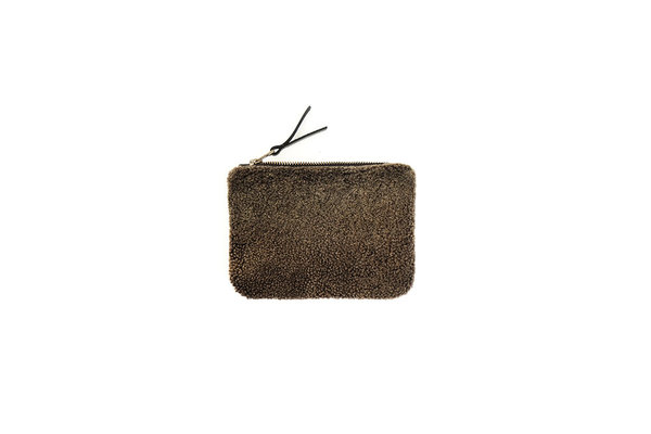 Primecut FOREST GREEN SHEEPSKIN POUCH