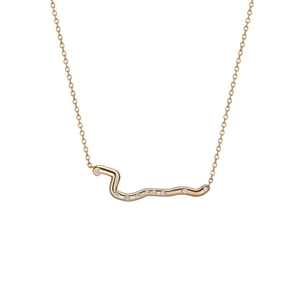 Shahla Karimi 14K Gold Subway Necklace - Harlem to South Ferry