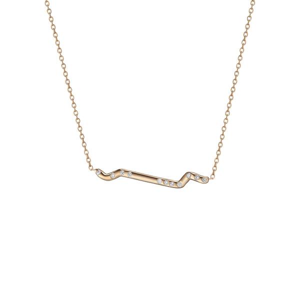 Shahla Karimi 14K Gold Subway Necklace - Inwood to World Trade Center