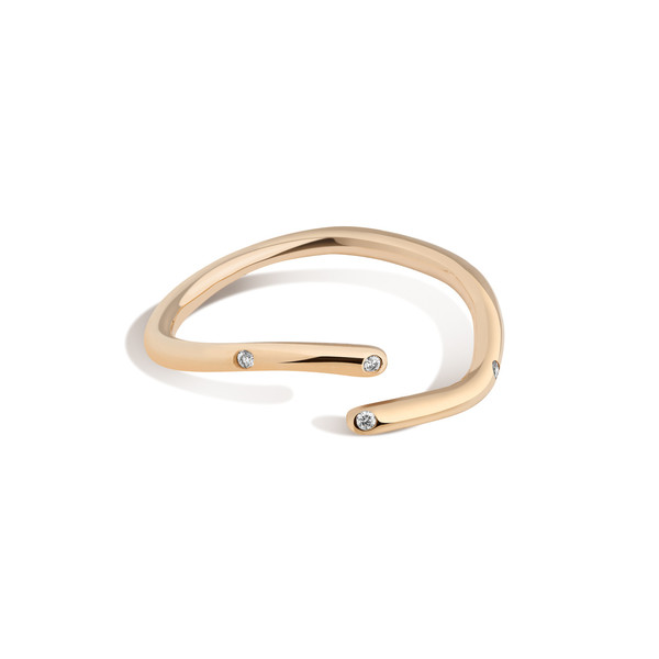Shahla Karimi 14K Gold Subway Ring - Broadway Central Park to City Hall