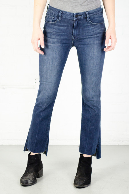 FRAME Denim FRAME 'Le Crop' Mini Boot Raw Stagger in Topsail