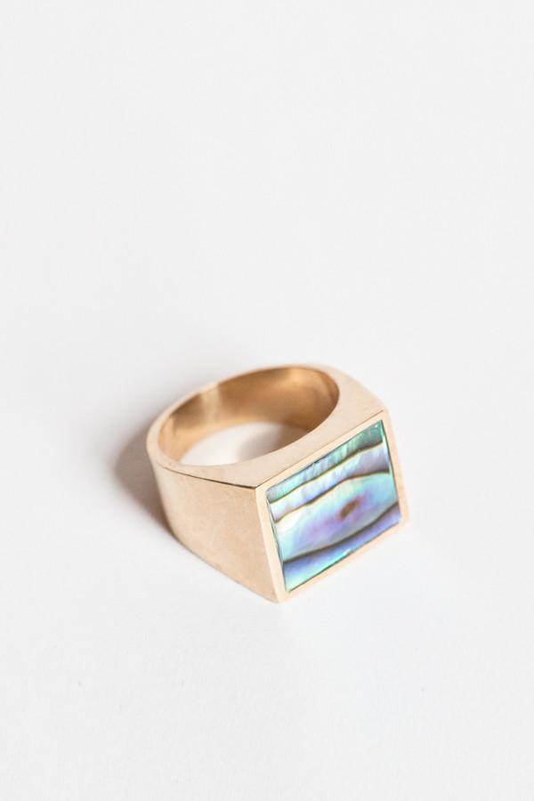 Legier Abalone Signet Ring