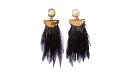 Lizzie Fortunato Parrot Earrings in Jet