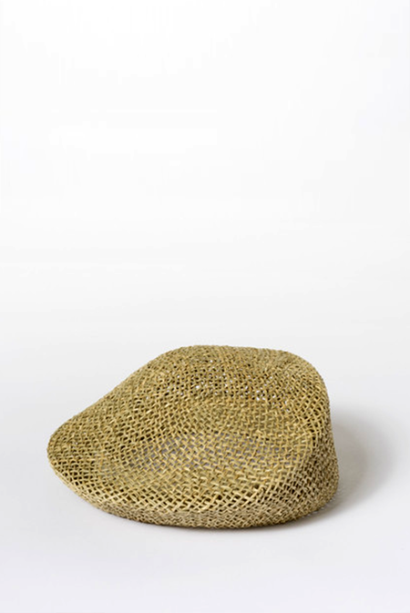 Clyde Straw Sazy Beret - Natural