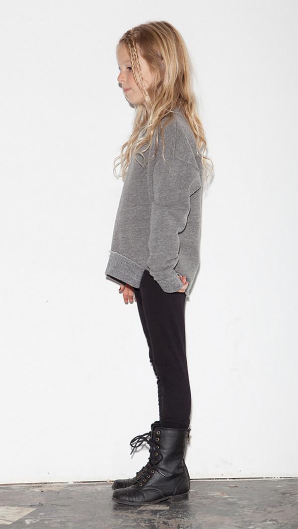 Kid's Mimobee Asym Hem Sweatshirt - H. Grey