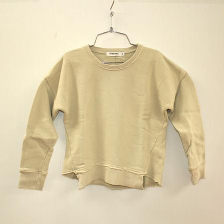 Kid's Mimobee Asym Hem Sweatshirt - Pebble