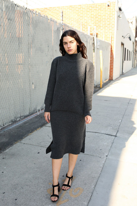 Objects Without Meaning Wool Skirt Set - Grey