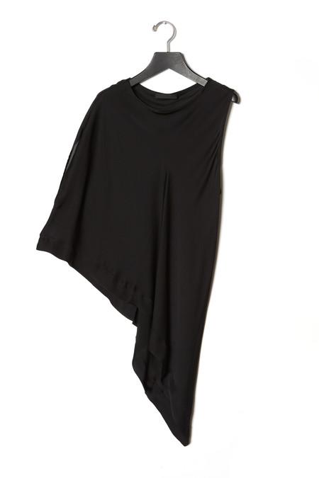 KES Asymmetric Squared Chiffon T-Shirt