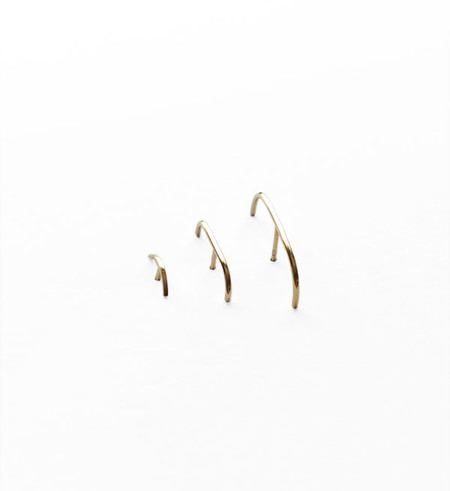 Kathleen Whitaker Gold Stitch Earring