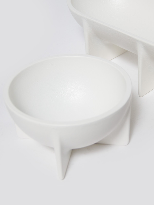 Fort Standard Small Standing Bowl White