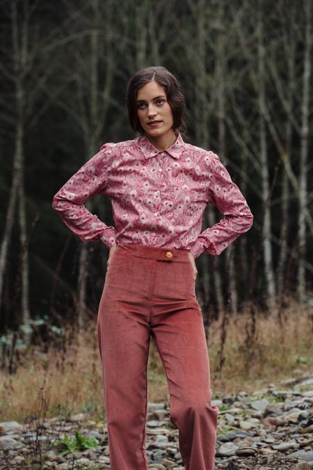 Nahanni Arntzen Birch blouse - peacock