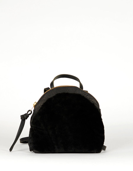 Eleven Thirty Anni Mini Backpack Black Shearling