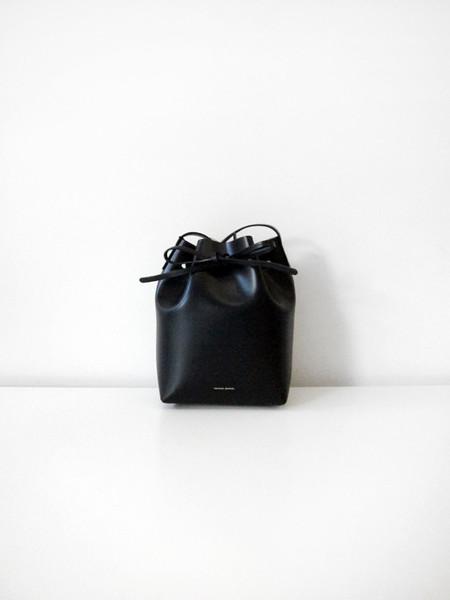 Mansur Gavriel Mini Bucket Bag, Black/Royal