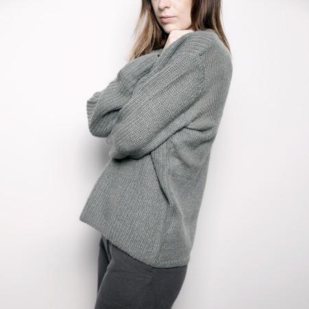 7115 by Szeki Mohair Pullover Sweater - Eucalyptus FW16