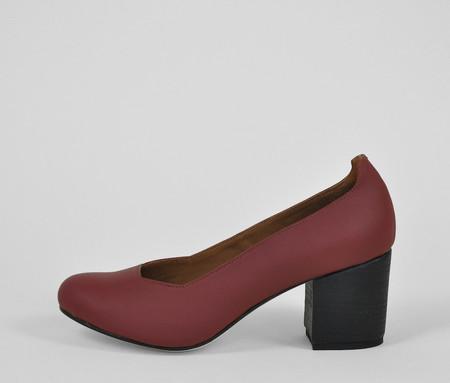 The Palatines Shoes saturo pump - garnet leather