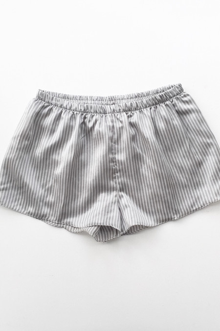 Salua Lingerie Striped Cotton-Silk Shorties