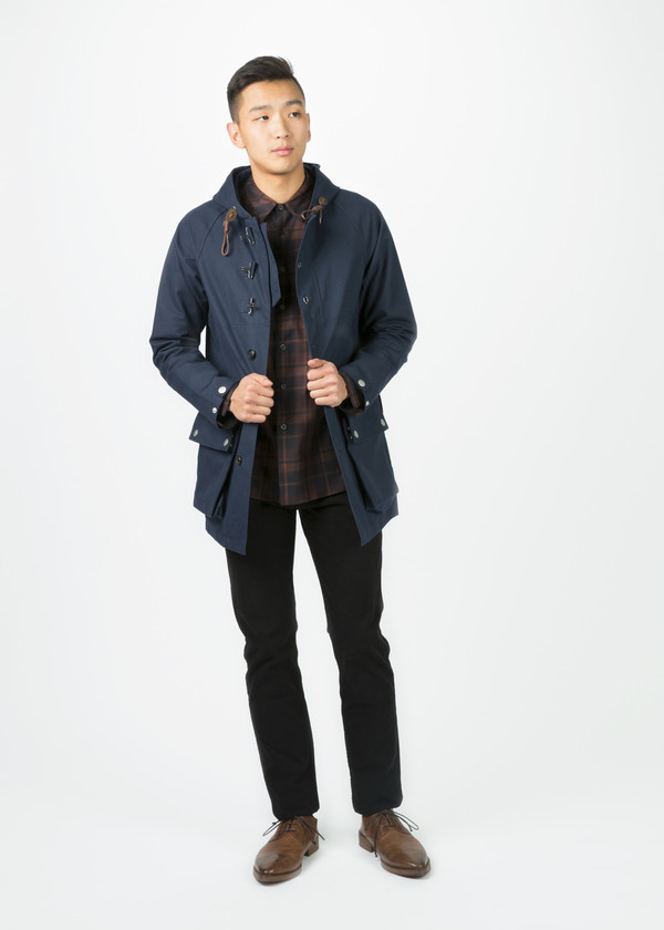 Men's Nigel Cabourn Motorbike Army Coat - Navy