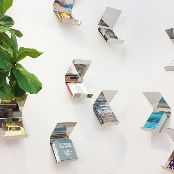 "Book Mirror Shelf by ""good thing"""