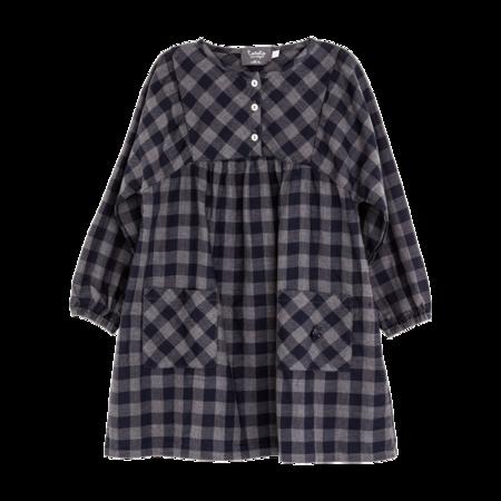Kid's  Tocoto Navy Plaid Dress - CouCou Boston