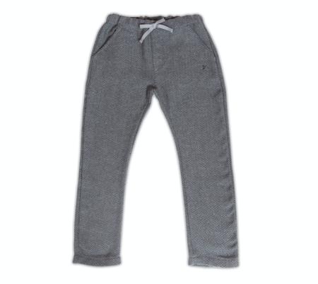 Kid's Tocoto Grey Herringbone Trousers - CouCou Boston