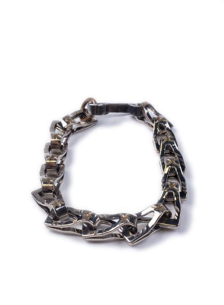 Men's Fortune Goods Carved Ransom Chain Bracelet Nickel