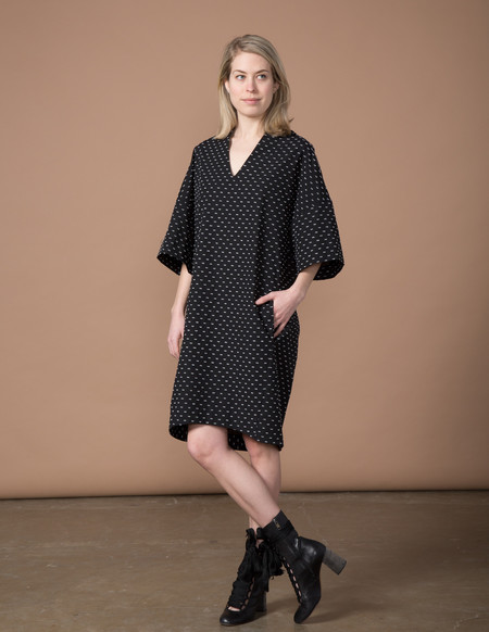 SBJ Austin Sadie Dress - Black Swiss Dot