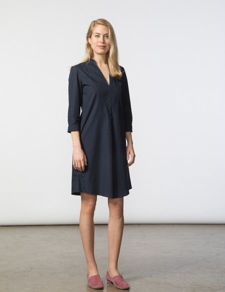 SBJ Austin Lizzie Dress - Navy Poplin