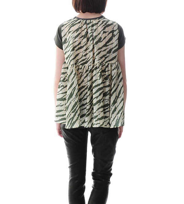 Sacai Luck Striped Back T-shirt