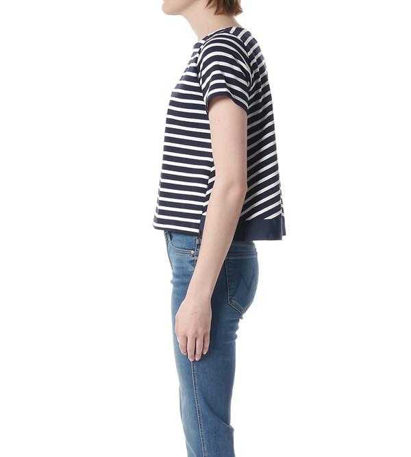 Sacai Luck Striped Trapeze Back T-Shirt