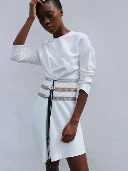 CF.Goldman Long Sleeve Multi Pull Dress
