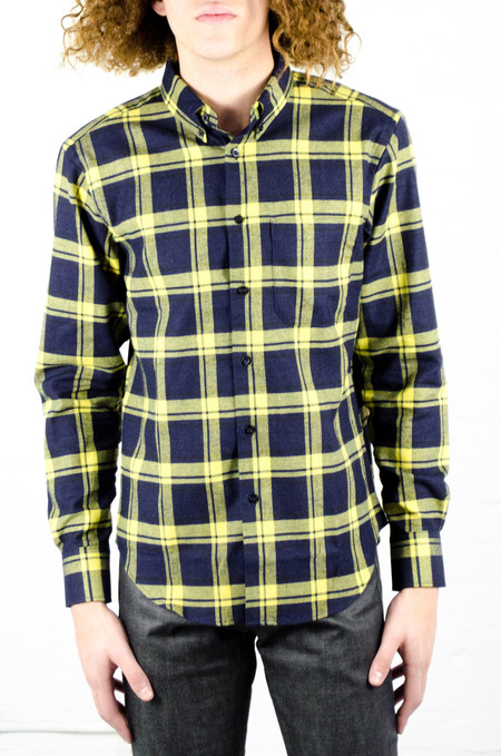 Men's Naked & Famous Real Indigo Flannel Regular Shirt