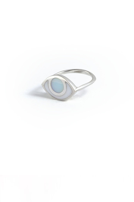 marta pia third eye sterling silver ring with blue quartz