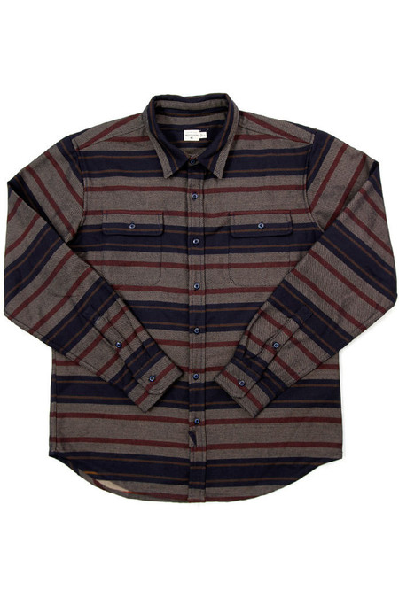 Men's Bridge & Burn Bedford Navy Multi Stripe