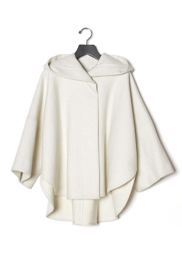 KES Cropped Cape Coat Wool