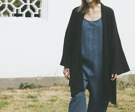 Bare Knitwear Chaki Kimono