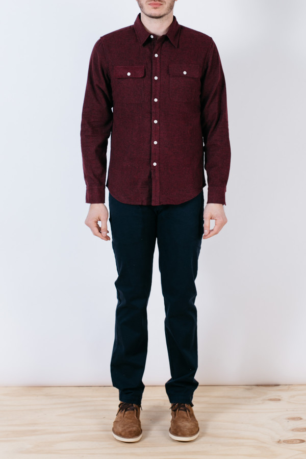 Men's Bridge & Burn Franklin Red Brushed Twill
