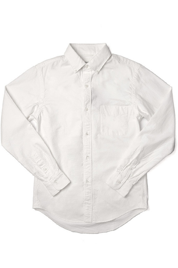 Men's Shuttlenotes Officer Shirt Button Down White