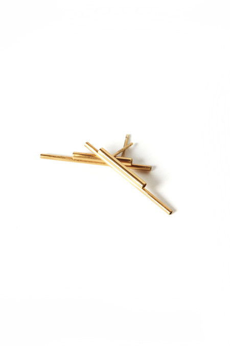 Aura Bankauskaite Akajewellry Concord Gold Tube Earrings