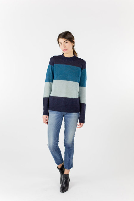 Just Female Glaze Knit - Blue Striped