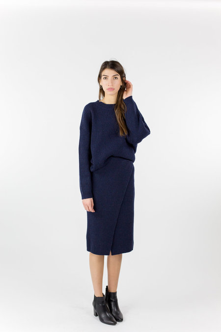 Just Female Corn Knit - Blue Stone